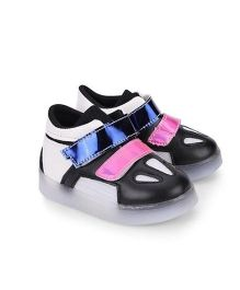 Kidslounge Party Sneakers With LED Lights - Black