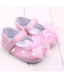 Bellazaara Bowknot Shoes - Pink