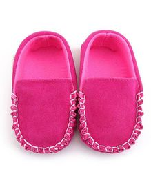 Bellazaara Casual Soft Sole Toddler Cotton Crib Shoes - Pink