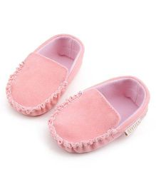 Bellazaara Casual Soft Sole Toddler Cotton Crib Shoes - Light Pink