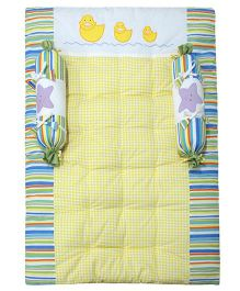 Abracadabra Gadda Set With Bolsters Duck Patch - Yellow