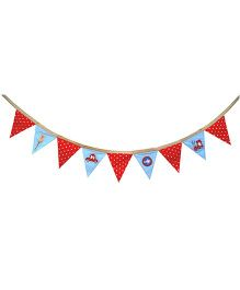 Abracadabra Bunting Transport Print - Red Blue