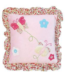 Abracadabra Filled Cushion Butterfly Embroidery - Pink