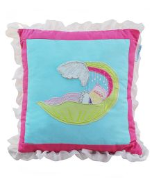 Abracadabra Filled Cushion Fish Embroidery - Blue Pink