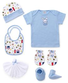 Mee Mee Infant Clothing Gift Set Pack of 6 - White Blue
