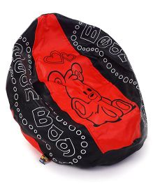 Awals Non Filled Bean Bag - Red Black