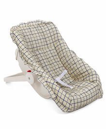 Baby Check Carry Cot Cum Rocker - Beige