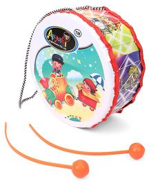 Lovely Funny Drum With Two Sticks Junior - Multi Colour