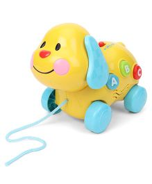Winfun Pull Along Puppy Toy - Yellow Blue