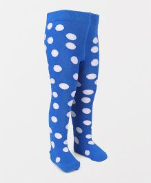 Mustang Tights Stockings Round Design - Royal Blue