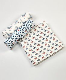 Little West Street Nautical Swaddles Set - White