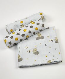 Little West Street Starry Night Swaddles Set - White