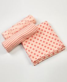Little West Street Pink-Licious Swaddles Set - Orange