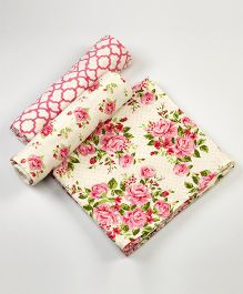 Little West Street La Rose Swaddles Set - White