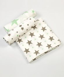 Little West Street Twinkle, Twinkle Swaddles Set - White