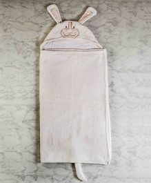 Little West Street Puppy Animal Towel - White