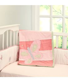 Little West Street Butterfly Kisses Baby & Toddler Cotton Dohar - Pink