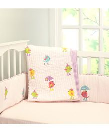 Little West Street Tweetie Pie Cotton Quilts - Pink