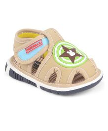 Cute Walk by Babyhug Sandals Star Patch - Khaki