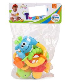 Smiles Creation Rattle Set Of 4 - Multicolor