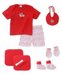 Mee Mee Clothing Gift Set Pack Of 8 - Red