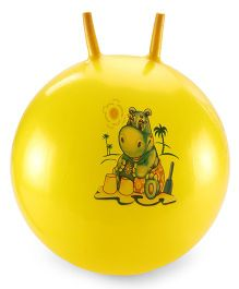 Awals Hopping Ball Large With Pump Yellow (Prints May Vary)