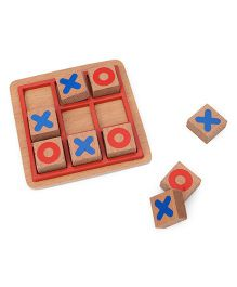 Awals Wooden Tic Tac Toe Mini - Multicolor
