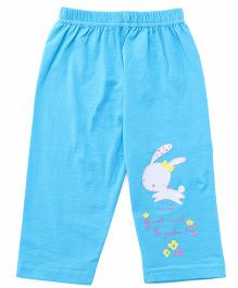 Tango Full Length Lounge Pants Bunny Print - Sky Blue