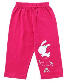 Tango Full Length Lounge Pants Bunny Print - Dark Pink