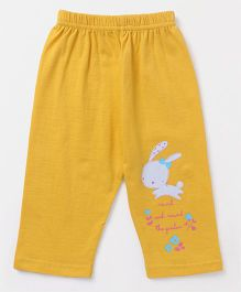 Tango Full Length Lounge Pants Bunny Print - Yellow