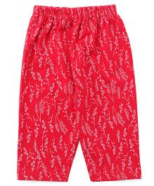 Tango Full Length Printed Lounge Pants - Dark Pink