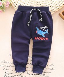 Lilpicks Couture  Winter Aeroplane Pants - Blue