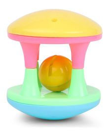 Lovely Funny Roller Rattle - Yelloow Multicolor