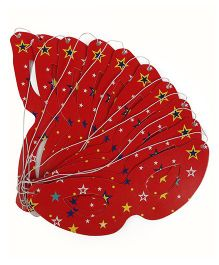 Karmallys Star Eye Masks Set Pack Of 10 - Red