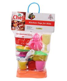 Kids Zone Junior Chef Kitchen Set  - Orange Multi