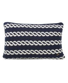 Pluchi  Knitted Rope Design Cushion - Dark Navy