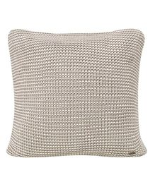Pluchi  Knitted Dual Tone Solid Square Cushion - Silver
