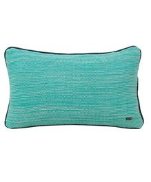 Pluchi  Textured Knitted Cushion - Sea Green
