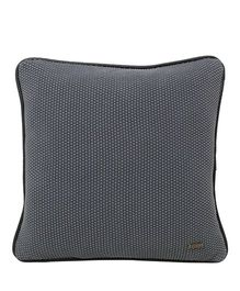 Pluchi  Knitted Solid Square Cushion - Dark Grey
