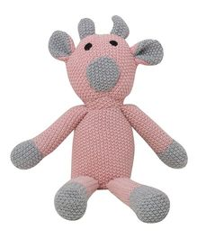 Pluchi  Toby Design Toy - Pink & Light Grey
