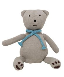 Pluchi  Bear Design Toy - Light Beige & Blue