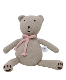 Pluchi  Bear Design Toy - Light Beige & Pink