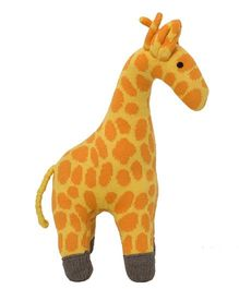 Pluchi  Giraffe Design Dual Tone Toy - Yellow & Orange