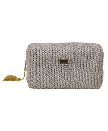 Pluchi  Knitted Square Pouch - Stone Grey