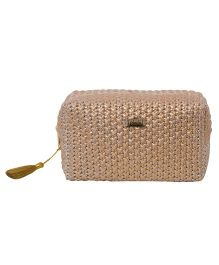 Pluchi  Knitted Small Square Pouch - Copper
