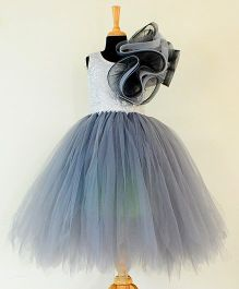 Tu Ti Tu Starry Night Tutu Gown - Grey & Silver