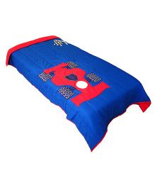 The Button Tree Racer-O-Boy Design Quilt - Royal Blue