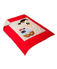 The Button Tree Pirate style Cotton Quilt - Red