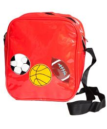 The Button Tree Sporty Sling Bag - Red