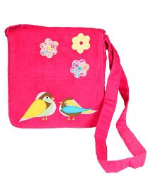 The Button Tree Birdie Love Sling Bag - Pink